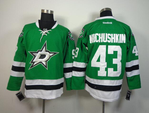 Stars 43 Nichushkin Green Jerseys