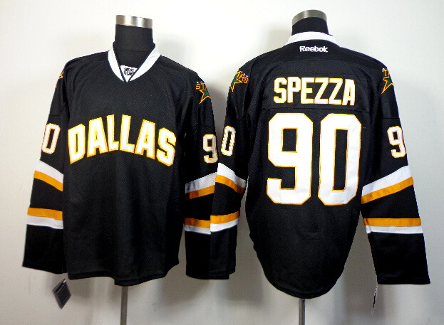 Stars 90 Spezza Black Jerseys