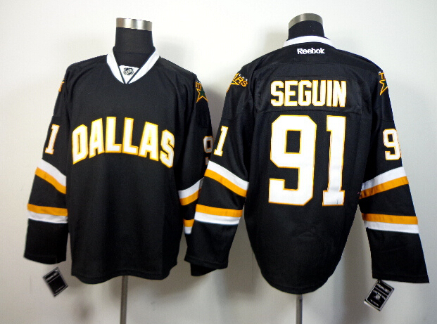 Stars 91 Seguin Black Jerseys