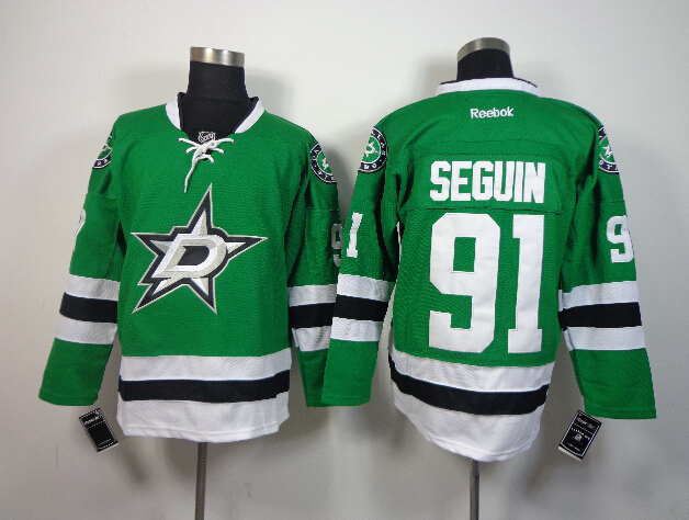 Stars 91 Seguin Green Jerseys