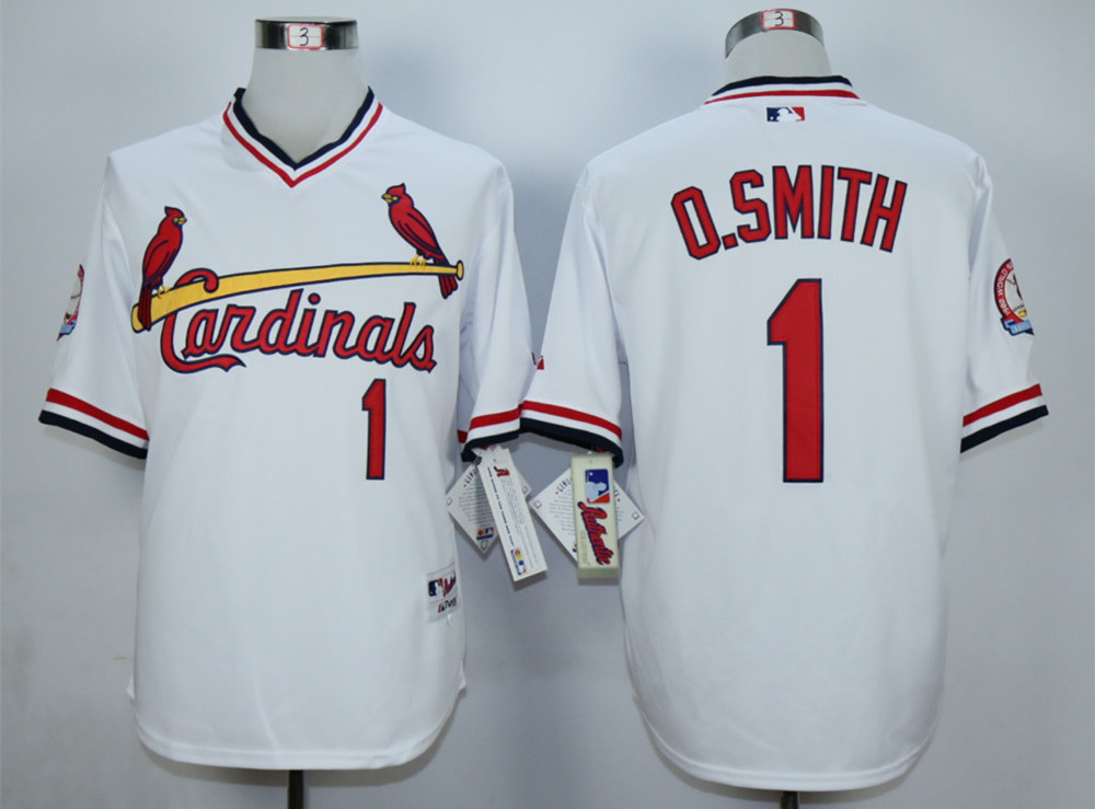 Cardinals 1 Ozzie Smith White 1982 Turn Back The Clock Jersey