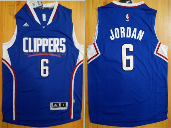 Clippers 6 DeAndre Jordan Blue Swingman Jersey