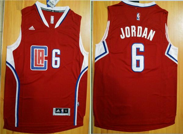 Clippers 6 DeAndre Jordan Red Swingman Jersey