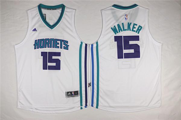 Hornets 15 Kemba Walker White Swingman Jersey