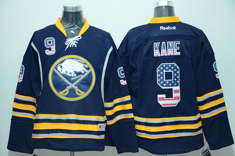 Sabres 9 Evander Kane Blue US Flag Reebok Jersey