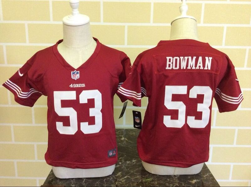 Nike 49ers 53 NaVorro Bowman Red Toddler Game Jersey