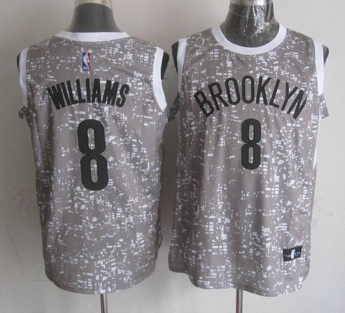 Nets 8 Deron Williams Grey City Luminous Jersey