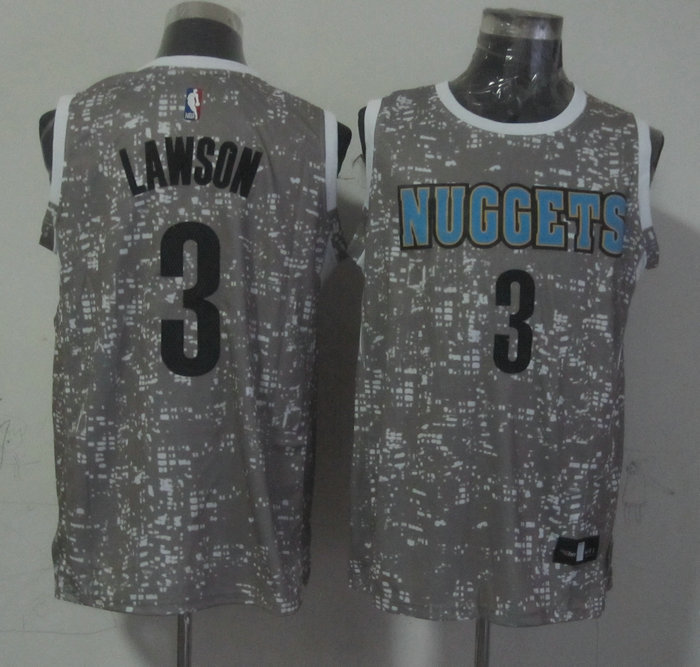 Nuggets 3 Ty Lawson Grey City Luminous Jersey