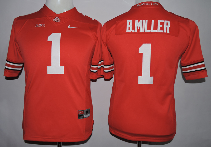 Ohio State Buckeyes 1 B.Miller Red College Women Jersey