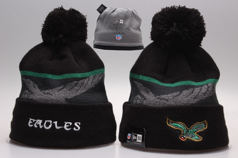 Eagles Black Fashion Knit Hat YP