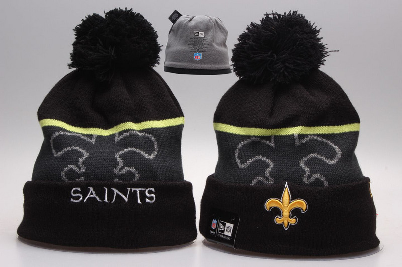 Saints Black Fashion Knit Hat YP