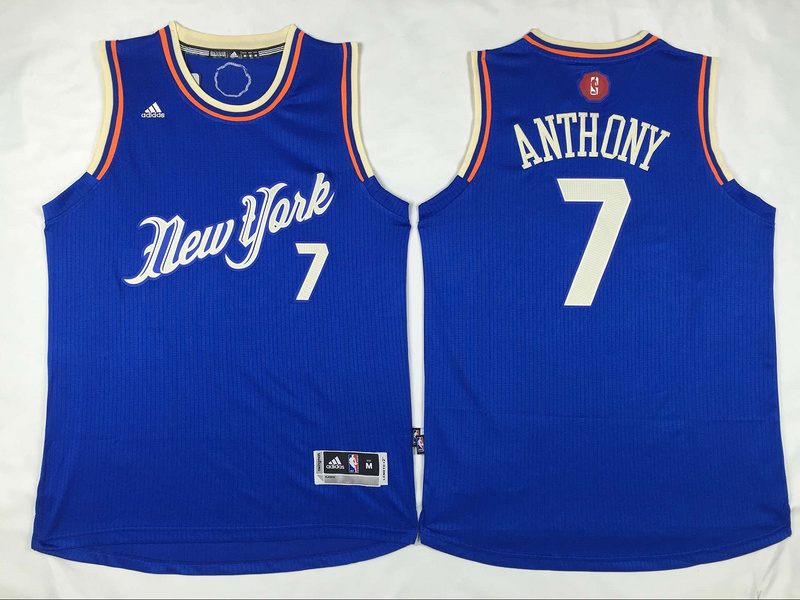 Knicks 7 Carmelo Anthony Blue 2015-16 Christmas Day Swingman Jersey