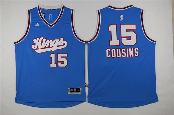 Kings 15 DeMarcus Cousins Blue 2015-16 Swingman Jersey