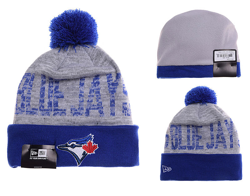 Blue Jays Grey Fashion Knit Hat YD