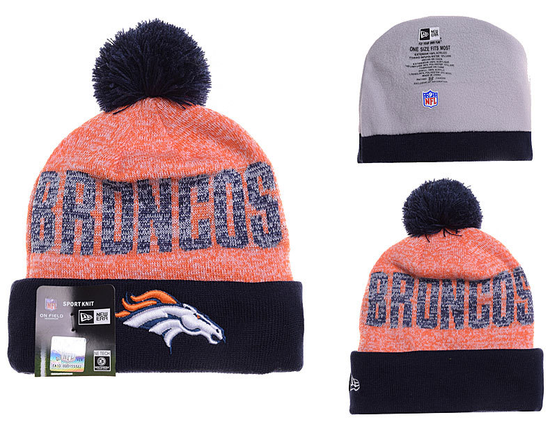 Broncos Orange Fashion Knit Hat YD