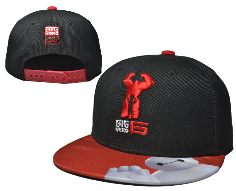 Big Hero 6 Black Adjustable Youth Cap LH
