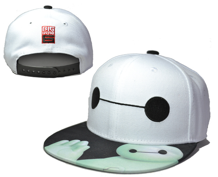 Big Hero 6 White Adjustable Youth Cap LH