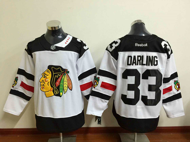 Blackhawks 33 Scott Darling White 2016 Stadium Series Reebok Jersey