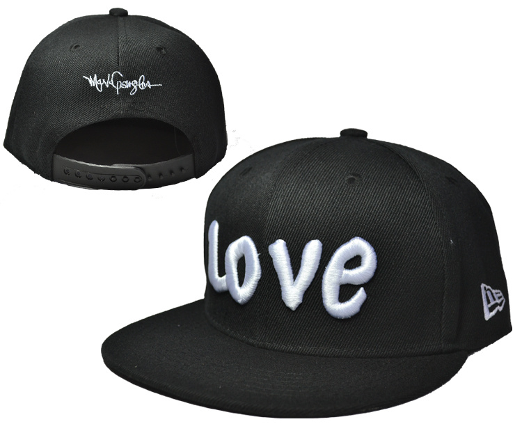Love Black Adjustable Youth Cap