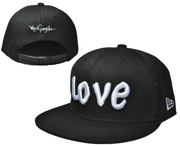 Love Black Adjustable Youth Cap