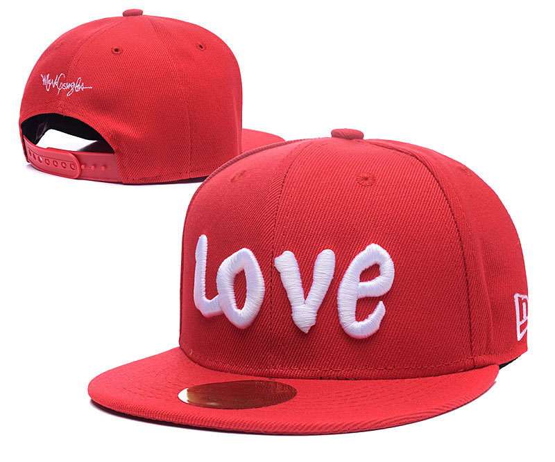 Love Red Adjustable Youth Cap