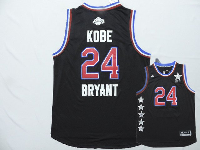 2015 NBA All Star NYC Western Conference 24 Kobe Bryant Black Jerseys