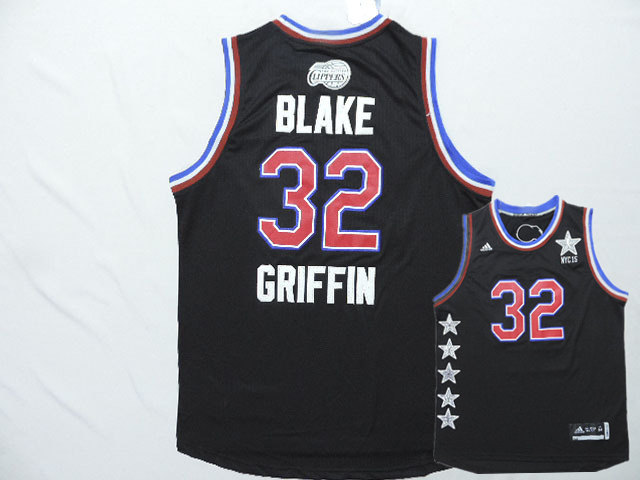 2015 NBA All Star NYC Western Conference 32 Blake Griffin Black Jerseys