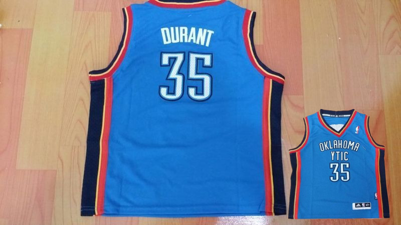 Thunder 35 Kevin Durant Blue Toddler Jersey
