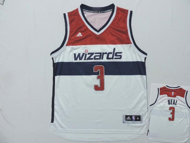 Wizards 3 Beal White New Revolution 30 Jerseys