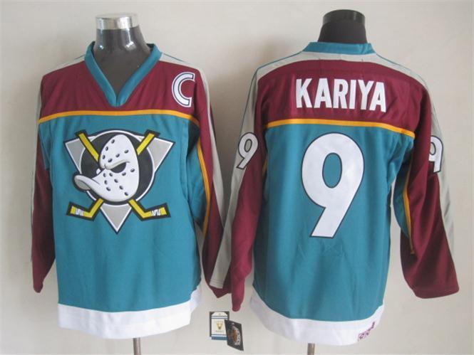 Ducks 9 Kariya Teal C Patch Jersey