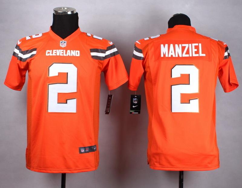 Nike Browns 2 Johhny Manziel Orange Elite Jersey