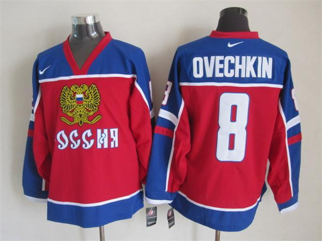 Russia 8 Ovechkin National Hockey Jersey