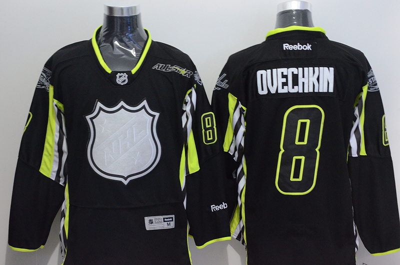 Capitals 8 Ovechkin Black 2015 All Star Jersey