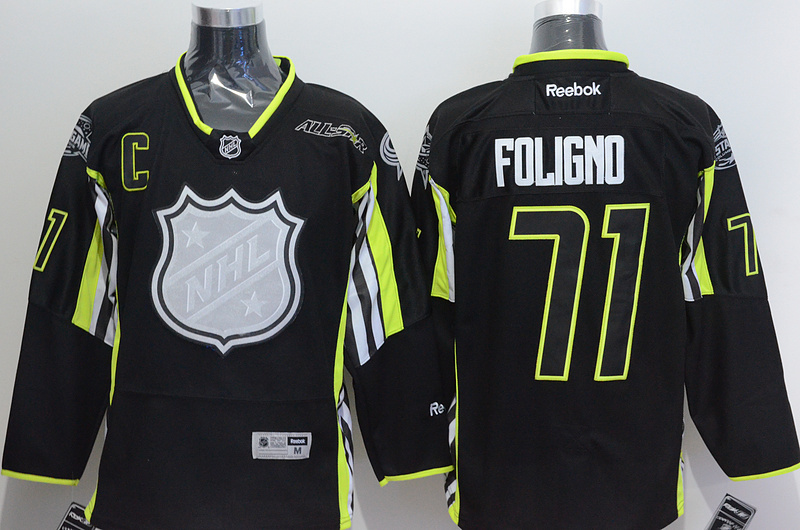 Columbus Blue Jackets 71 Foligno Black 2015 All Star Jersey