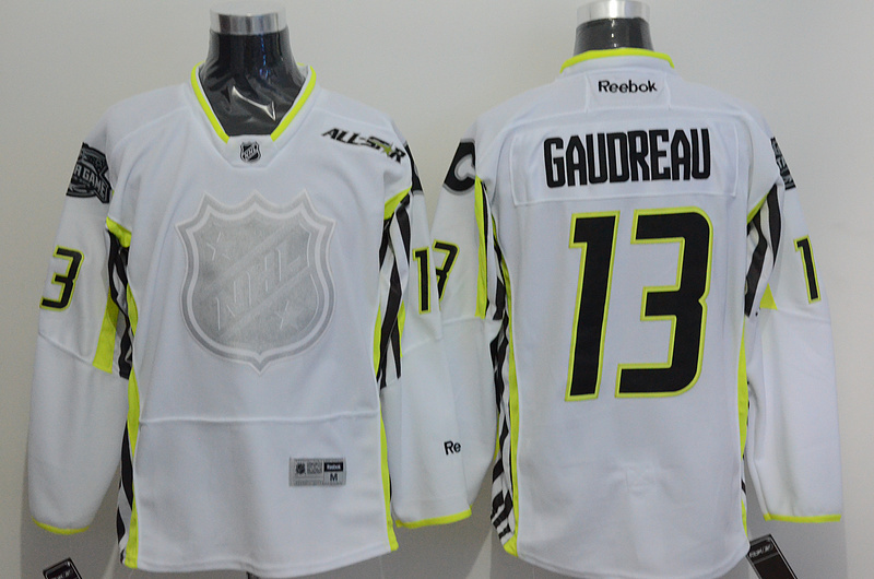 Flames 13 Gaudreau White 2015 All Star Jersey