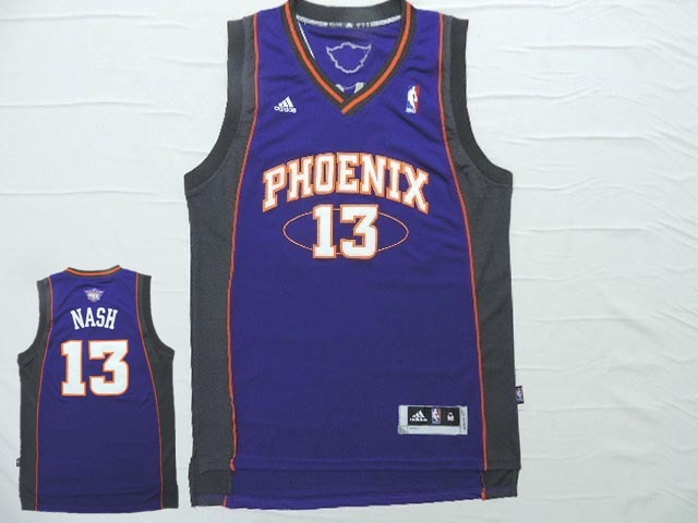 Suns 13 Nash Purple New Revotion 30 Jersey