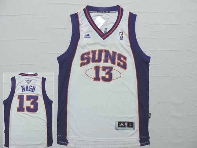 Suns 13 Nash White New Revotion 30 Jersey