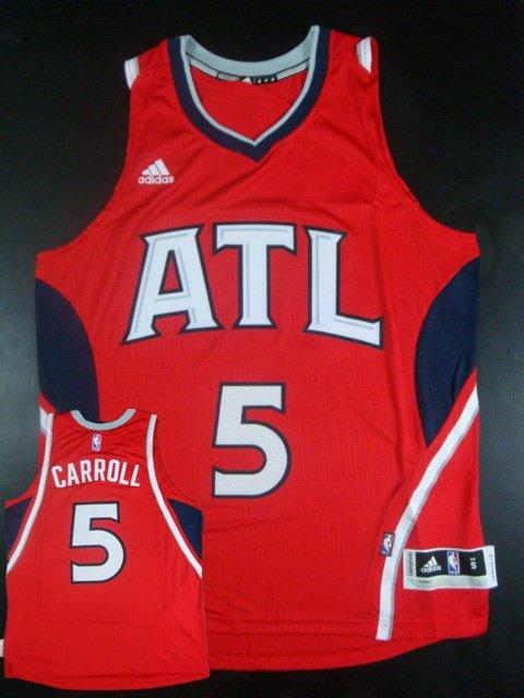 Hawks 5 Demarre Carroll Red New Revolution 30 Jersey