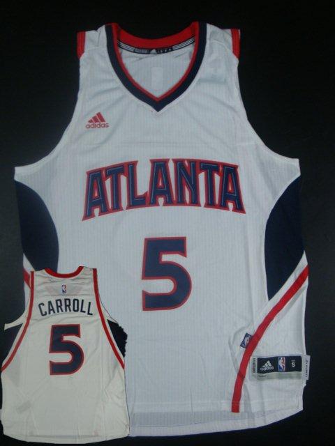 Hawks 5 Demarre Carroll White New Revolution 30 Jersey