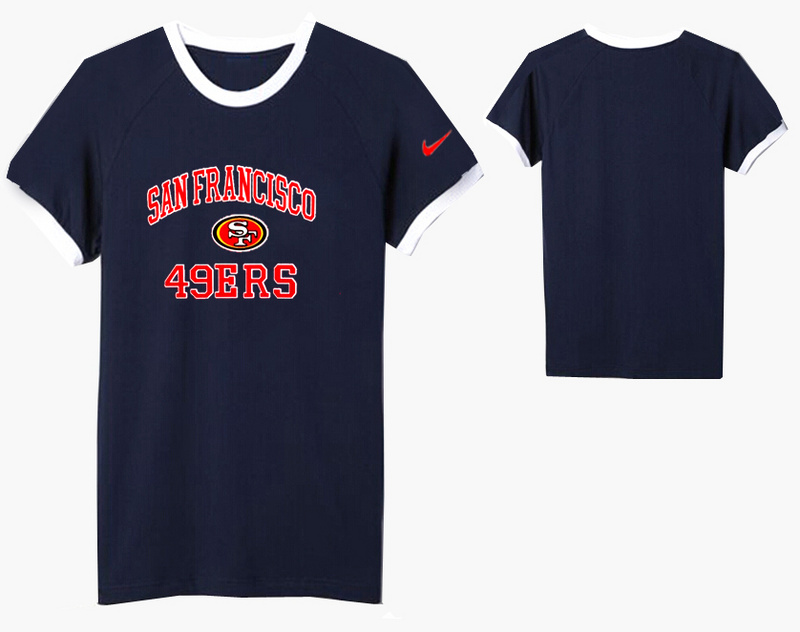Nike San Francisco 49ers Round Neck T Shirt D.Blue