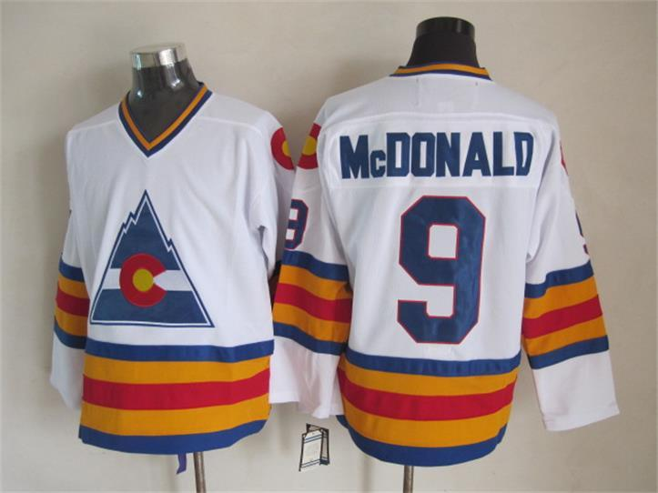 Avalanche 9 McDonald White CCM Jersey