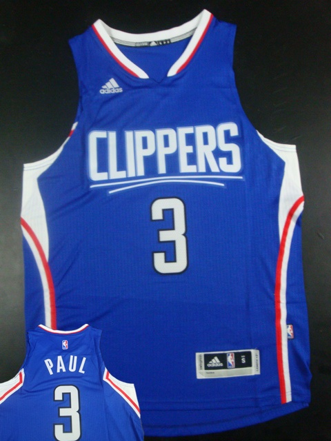 Clippers 3 Chris Paul Blue 2015 New Rev 30 Jersey(hot printed)