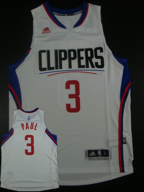 Clippers 3 Chris Paul White 2015 New Rev 30 Jersey(hot printed)