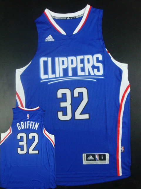 Clippers 32 Blake Griffin Blue 2015 New Rev 30 Jersey(hot printed)