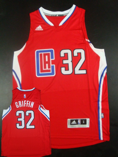 Clippers 32 Blake Griffin Red 2015 New Rev 30 Jersey(hot printed)