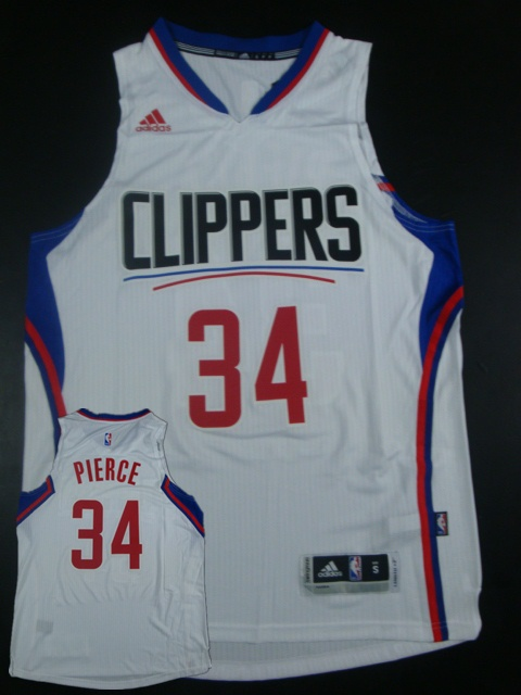 Clippers 34 Paul Pierce White 2015 New Rev 30 Jersey(hot printed)