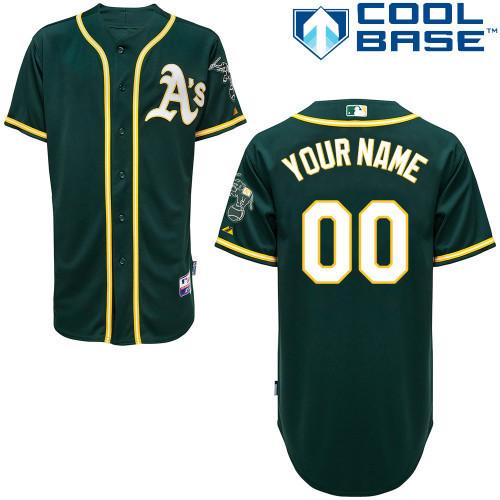 Athletics Green Customized Men Cool Base Jersey