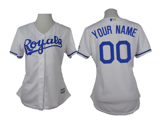 Royals White Cutomized Women New Cool Base Jersey