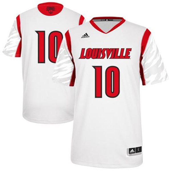 Louisville Cardinals 2013 March Madness #10 Premier White Swingman Jersey