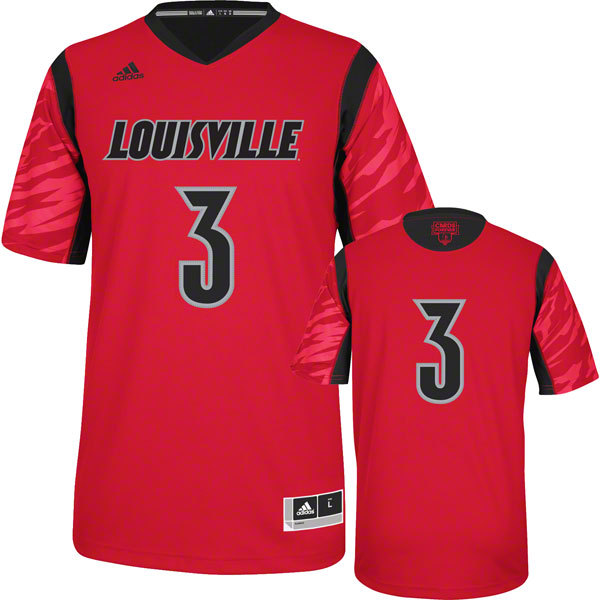 Louisville Cardinals 2013 March Madness #3 Premier Red Swingman Jersey